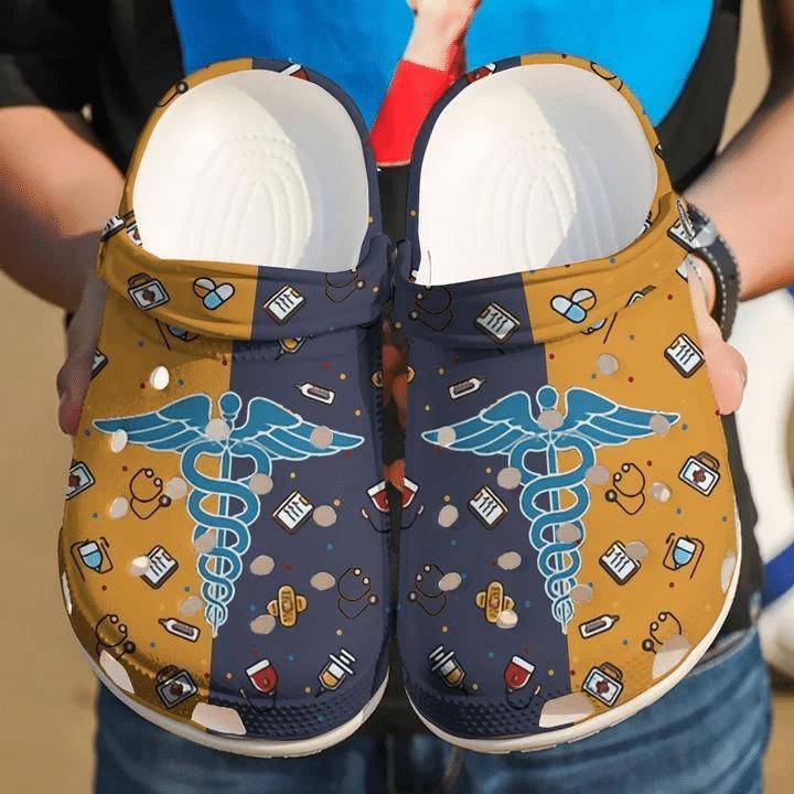 Nurse Symbol, Nurse Lover Unisex Clog Shoes