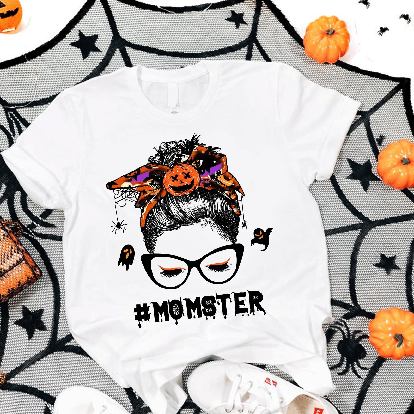 Monster Momster Halloween Shirt