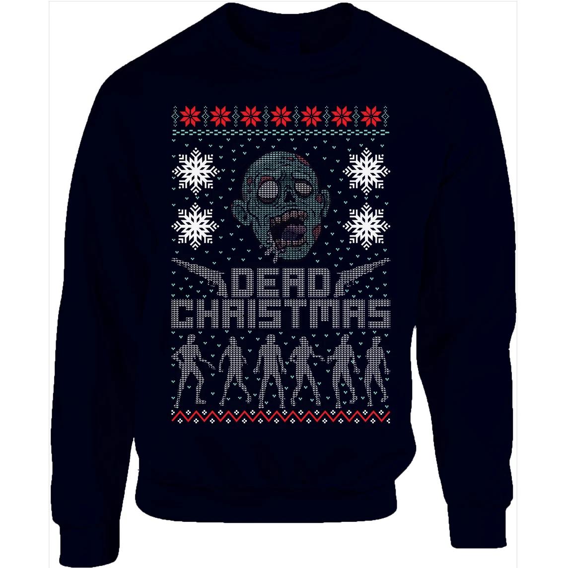 Merry Dead Christmas The Walking Zombie Face Christmas Sweatshirt