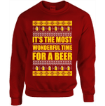 It's The Most Wonderful Time For A Beer Christmas Sweatshirt