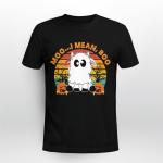 Moo I Mean Boo Ghost Cow Halloween Shirt