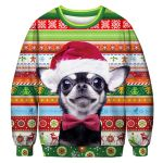 Chihuahua Noel Hat All Over Print Christmas Sweater