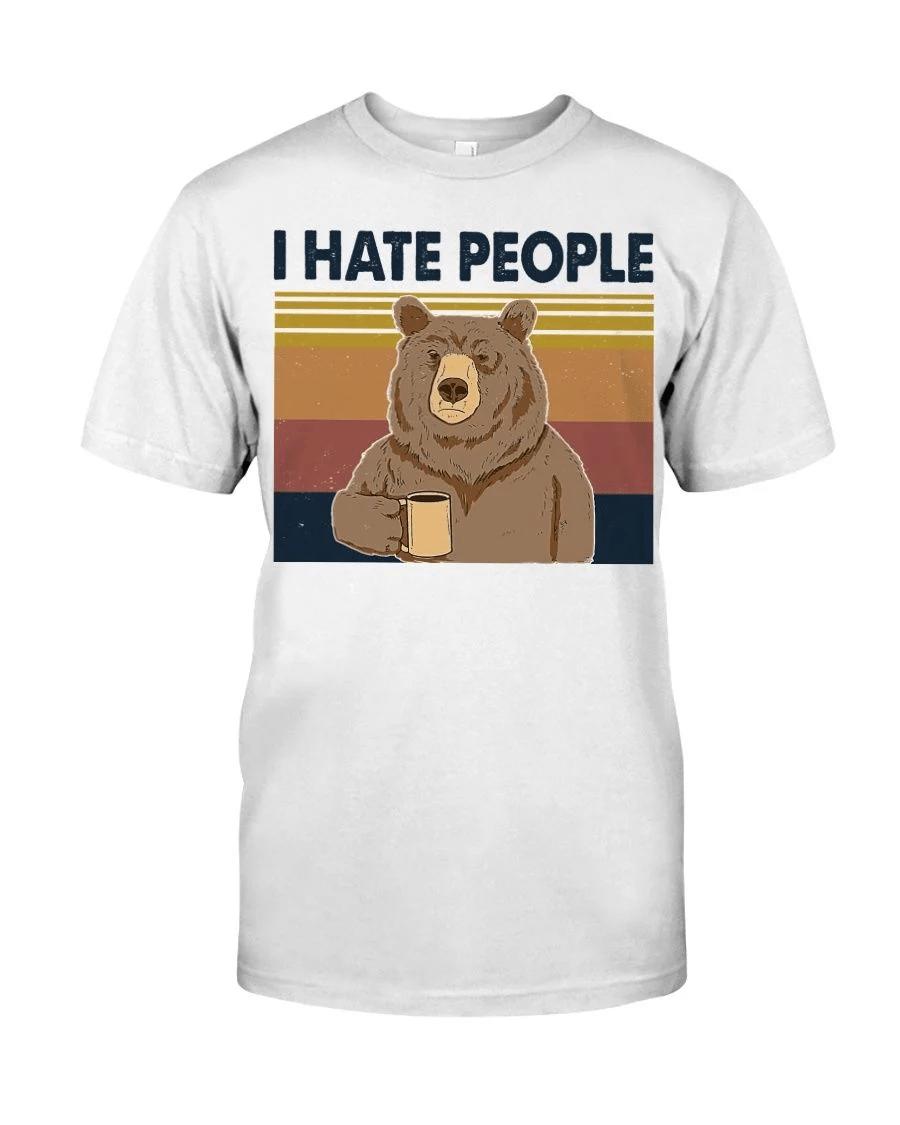 Bear Dink Coffee I Hate People Shirt