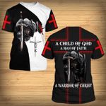 A Child Of God A Man Of Faith A Warrior Of Christ Knight Jesus 3D