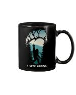 I Hate People Bigfoot middle finger - Footprint Mug