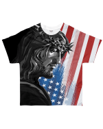 Jesus And America Flag 3D