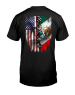 Mexican And American Flag Shirt