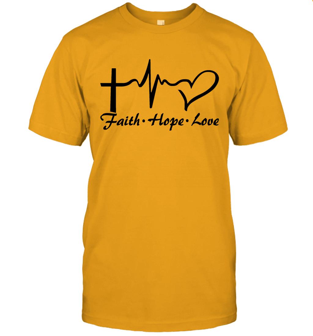 Cross Heartbeat Faith Hope Love Shirt