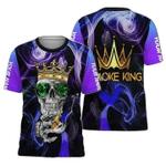 Smoke King Skull Smoking Personalized 3D Shirt