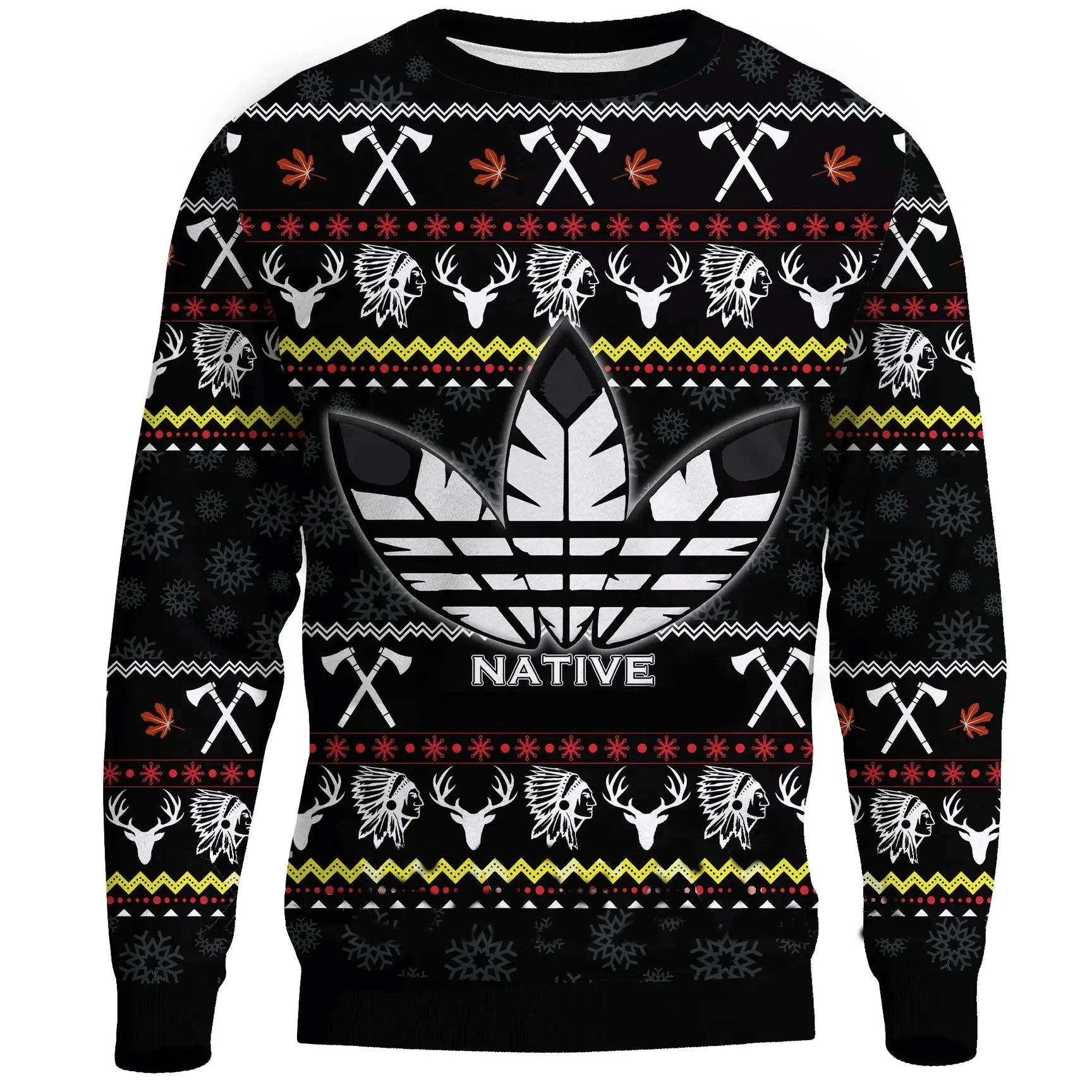 Native Sign 3D Christmas All Over Printed Shirt