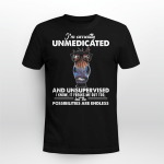 I'm Currently Unmedicated And Unsupervised Horse Wearing Glass Shirt