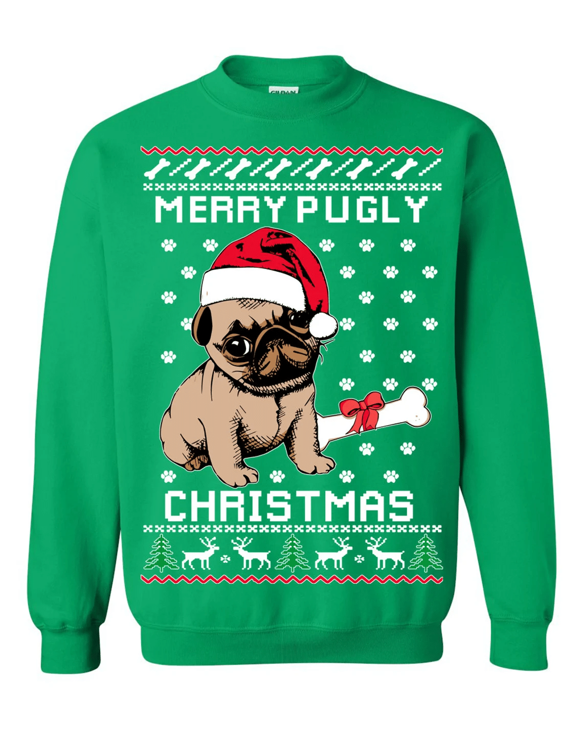 Merry Pugly Christmas Sweatshirt