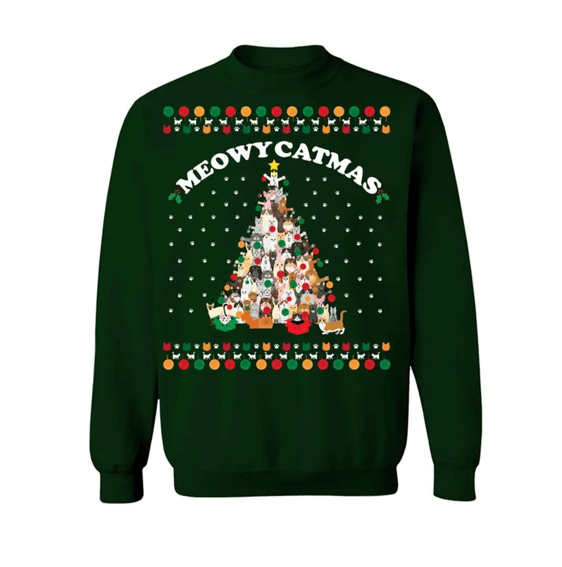 Meowy Catmas Christmas Tree Sweatshirt