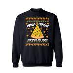Merry Crustmas and Pizza on Earth Christmas Sweatshirt