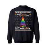 Merry Queermas and Happy HoliGays Christmas Sweatshirt