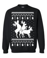 Funny Reindeer Humping Christmas Sweatshirt