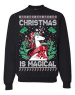 Christmas Is Magical Unicorn Christmas Sweatshirt