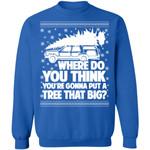 Where Do You Think You're Gonna Put A Tree That Big Chrismas Sweatshirt