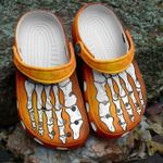Skeleton Foot Halloween Orange Unisex Clog Shoes