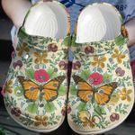 Butterfly With Flower Decor Unisex Clog Shoes