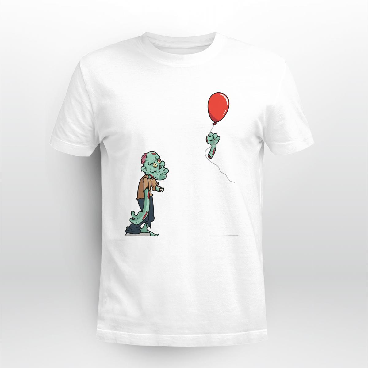 Halloween Zombie Cut Off Arm Balloon Shirt