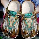 Native American Cow Skull Unisex Clog Shoes