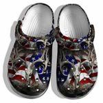 Deer Hunter America Flag Unisex Clog Shoes Gift For Daddy