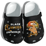 Black Queen Are Born In October, November, December Personalized Unisex Clog Shoes