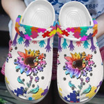 Be Kind Sunflower Autism Awareness Unisex Clog Shoes