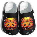 Halloween Pumpkin Dark Night Unisex Clog Shoes
