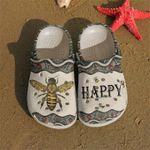 Bee Happy Be Happy Unisex Clog Shoes