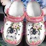 Personalized Name Penguin Sunflowers Unisex Clog Shoes