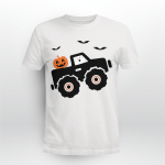 Halloween Pumpkin Ghost Monster Truck Shirt