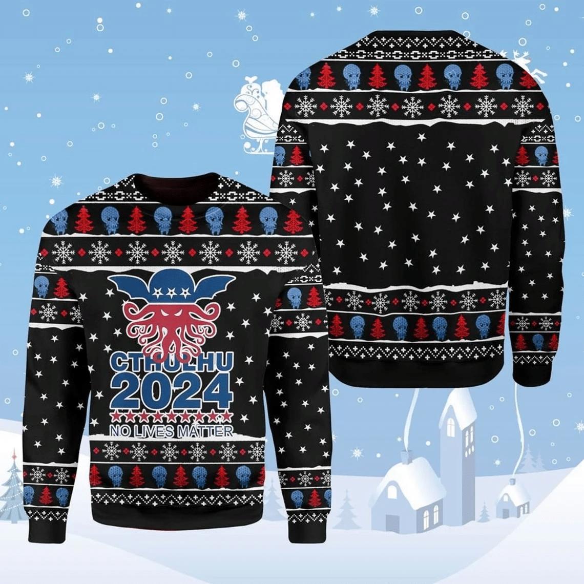 Cthulhu No Lives Matter 3D Christmas Sweater