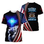 Welder American Jesus Faith Lion 3D Printed T-Shirt