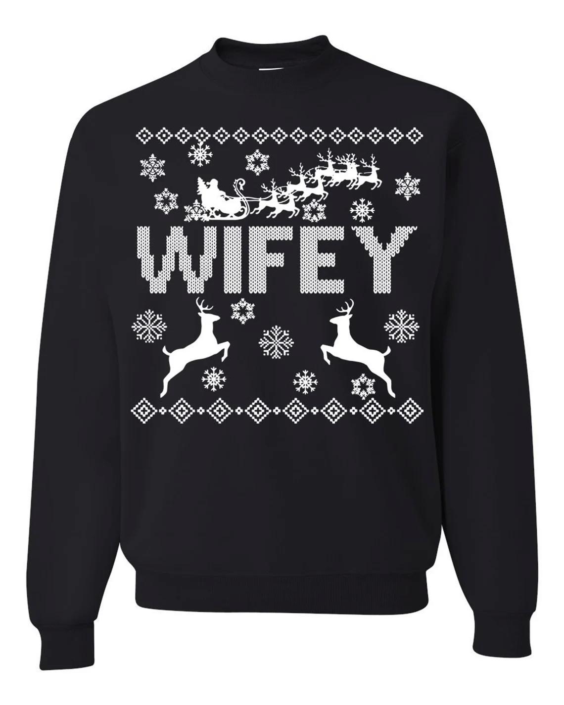 Hubby Wifey Couple Matching Christmas Sweatshirt