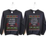 I'm Nice He's / She's The Naughty One Couples Christmas Sweatshirt