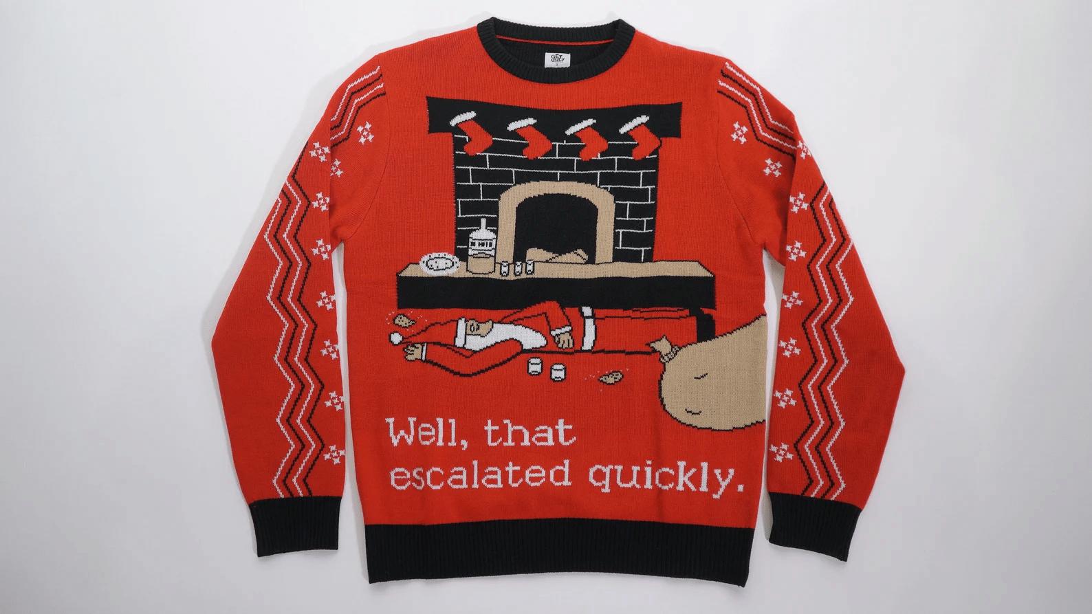 Drunk Santa Ugly Christmas Sweater
