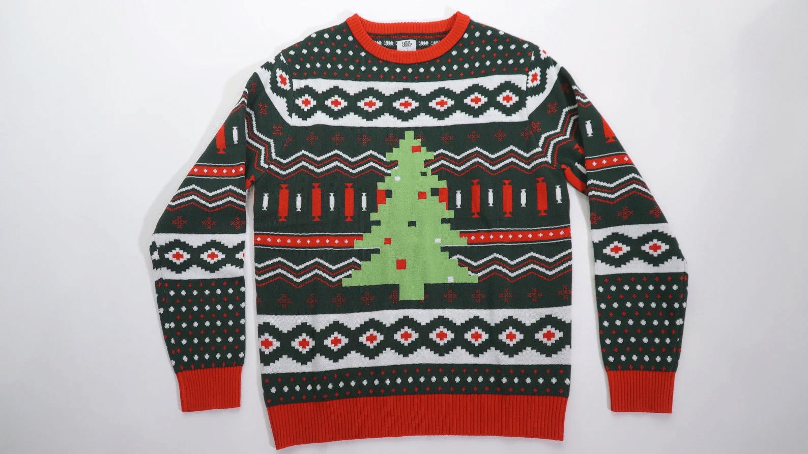 Ugly Pixelated Christmas Tree Sweater