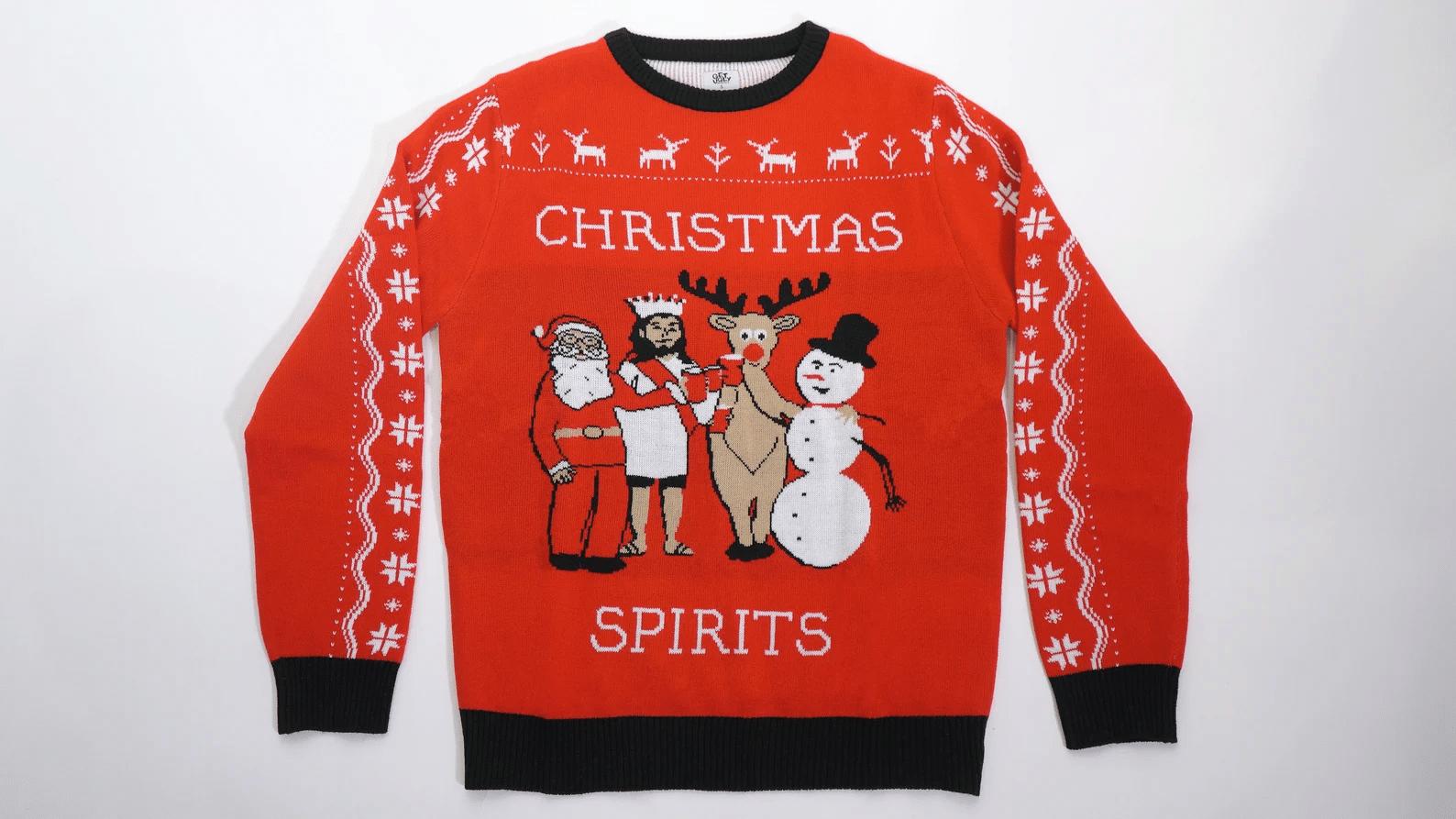 Christmas Spirits Ugly Sweater