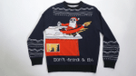 Don't Drink & Fly Santa Ugly Christmas Sweater