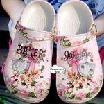 Baking Personalized Flower Unisex Clog Shoes