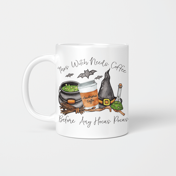 This Witch Need Coffee Before Any Hocus Pocus Coffee Mug