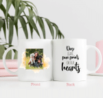 Personalized Two-sided Mug for Dog Lovers & Cat Lovers