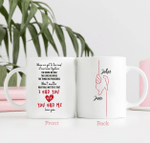 Personalized Two-sided Mug For Couple - Anniversary & Wedding Gifts