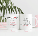 Personalized Two-sided Mug For Family, Couple Mug - Anniversary & Wedding Gifts