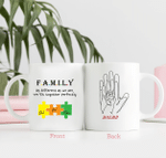 Personalized Two-sided Mug For Family - Anniversary Gifts