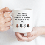 Thanks For The Belly Rubs And Picking Up My Poo - Funny Mug - Personalized Coffee Mug for Dog Lovers