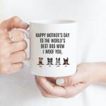 Best Dog Mom, I Woof You - Funny Mug - Personalized Coffee Mug for Dog Lovers
