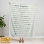 Family Blanket - Couple Blanket - Love Letter 001 - Personalized Blanket